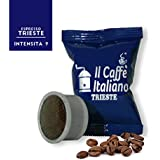 100 Cápsulas de Café compatibles Espresso Point sabor Café Trieste, 100 Cápsulas compatible con maquinas Espresso Point Paquete de 5x20 por un total de 100 Capsules, 100 cápsulas café molido,Il Caffè italiano