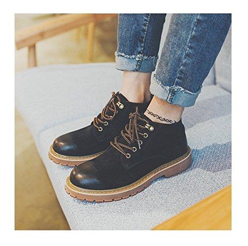 HL-PYL-Tooling Stivali Stivali scarpe retrò coreano Martin Stivali Stivali alti black