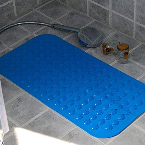 LYJ Tapis de bain Ménage Thicken Tapis De Bain / Ventouses D'environnement Tapis En Plastique / Douche Toilette Tapis Séchage rapide ( Couleur : Bleu , taille : 59*87cm )