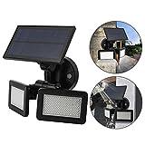 exquisie 48LED Doppel Solar Sensor Licht 3Modi für Terrasse, Garten, Auffahrt, Garage Energie Effizient Wasserdicht Sicherheit Licht