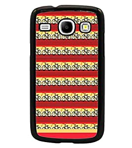 PrintDhaba Cycle Pattern D-1477 Back Case Cover for SAMSUNG GALAXY CORE i8262 (Multi-Coloured)