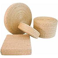 GRASSAIR 1Pcs Natürliche Stroh Runden Hocker Tatami Kissen/Bodenkissen / Meditation Yoga Runde Matte/Stuhl Kissen,Wide40cm,High6cm - preisvergleich