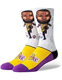 detailed look 186b0 1f4e8 Stance NBA Los Angeles Lakers Lebron Big Head Calzino Uomo