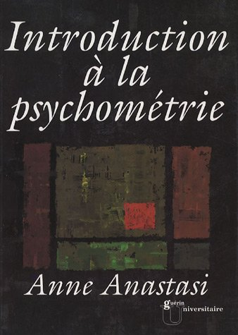 Introduction à la psychométrie