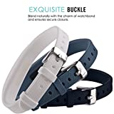 Greatfine Wireless Replacement Band Bracelet Wrist Strap for Fitbit Flex 2 Tracker (StoneBlue/White/Black 3pcs)