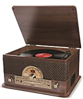ION Audio Superior LP 7-in-1 Vinyl Record Player Turntable Music Centre CD Player Cassette Player Radio Bluetooth Speaker and USB Playback