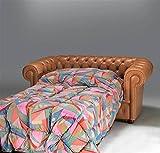 Canap-lit-3-places-assise-lit-Chesterfield-en-cuir-vieilli-Taille-canap-cm-220-x-90-h-72-Rseau-cm-162-x-185-Matelas-142-x-185-H-cm-7-choisir-votre-couleur-prfr