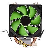 90mm 3Pin Dual-Sided Fan CPU Cooler Heatsink Quiet for Intel LGA775/1156/1155 AMD AM2/AM2+/AM3