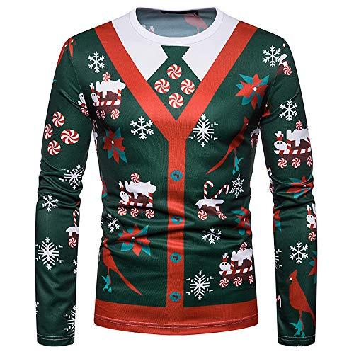 Geili Weihnachten Kostüm Tshirt Herren 3D Druck Weihnachten Sweatshirt Herbst Hemd Weihnachtsmann...