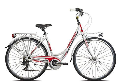 TORPADO BICICLETA CITY ANTEIA 28MUJER ALU 7V TALLA 52BLANCO ROJO (CITY)/BICYCLE CITY ANTEIA 28LADY ALU 7S SIZE 52WHITE RED (CITY)