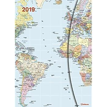 2019 World Maps Diary - Teneues Large Magneto Diary - 16 X 22 Cm [Lingua Inglese]
