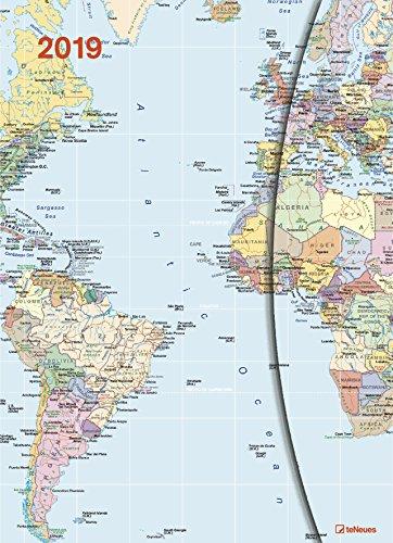 World Maps 2019 Magneto Diary large: Buchkalender teNeues