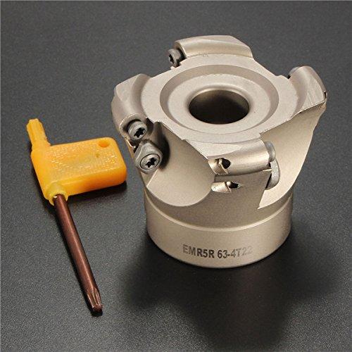 EsportsMJJ 4 Flutes EMR 5R-63-22-4F Face End Mill CNC Milling Cutter For RPMT1003 Insert