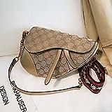 WOAIRAN Satteltasche Damen Vintage Druck Mini Handtasche Crossbody Sterne Gleiche