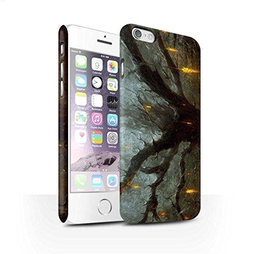 Offiziell Chris Cold Hülle / Matte Snap-On Case für Apple iPhone 6S / Gift Haupt Muster / Gefallene Erde Kollektion Baum des Wissens