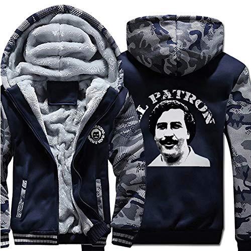 qingning Narcose Pullover Sweatshirt Cosplay Kaupzenpullover Pablo Escobar Plus Velvet Hoodie Shirt Christmas Weihnachten Geschenck