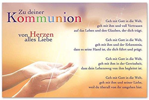 Diverse 10 Glückwunschkarten zur Kommunion Hände Gebet Spruch Grußkarten Hüllen 120-1439