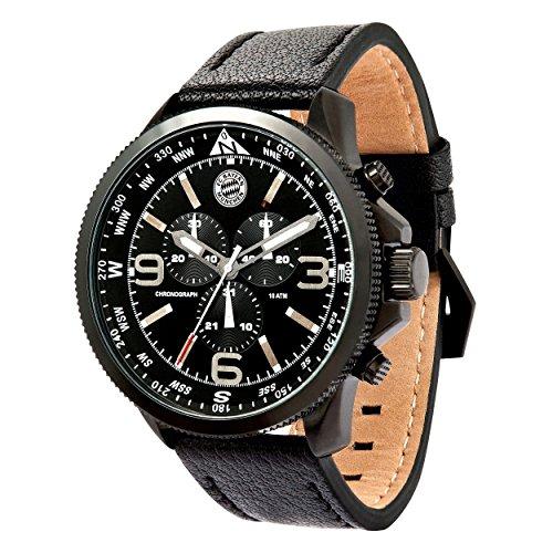 mens-chronograph-black-with-fc-bayern-munich-with-sticker-watch-bracelet-watch-munich-fcb