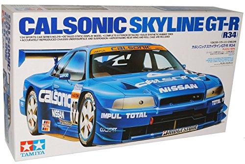 Gtr R34-modell-kit (Nissan Skyline R34 Blau Calsonic GT-R 1998-2002 24219 Kit Bausatz 1/24 Tamiya Modell Auto Modell Auto)