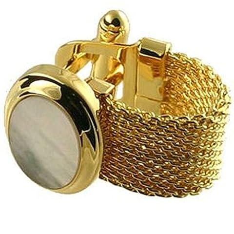 Manschettenknöpfe Manschettenknöpfe mit Wrap-around~~ Armband Armband Gold Perlmutt Manschettenknöpfe wählen Sie Geschenk Tasche