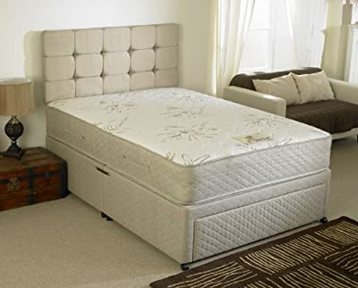 Happy Beds Stress Free Divan Bed Set With Memory Foam Pocket Sprung Mattress End Jumbo Drawer Headboard