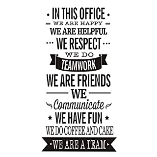 anber Office Inspirational Quote Wall Poster Vinyl Wall Stciker Decals Art Office Wall Décor