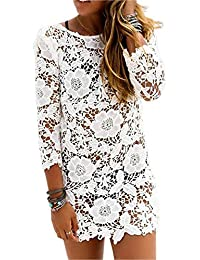 SAMGU Women Loose Crochet Cover-up Vêtements de Plage Blouson en Bikini