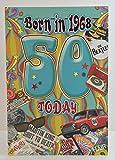 Stecker Alter 5050. Jahr Sie geboren wurden, in 1968Geburtstagskarte