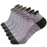Calzini da uomo sportivi , da corsa calzini da trekking calzini sportivi da esterno calzini cotone traspirante calzini bassi sportivi in cotone traspirante anti umidità 6 paia (Beige-verde militare)