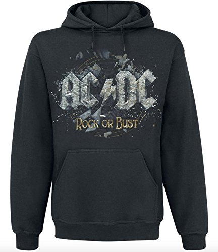 AC/DC Rock Or Bust Kapuzenpulli schwarz 4XL (Dc Kapuzen-pullover)