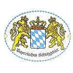 """Emaille-Schild """"Bayerisches Schutzgebiet"""" wetterfestes bayerisches Metallschild"""