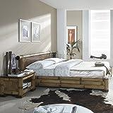 Bambusmöbel Bett aus Bambus NAKO 180x200 asiatisches Bett Holzbett Bambusbetten