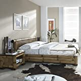 Möbel Bressmer Bambusmöbel Bett aus Bambus NAKO 180x200 asiatisches Bett Holzbett Bambusbetten