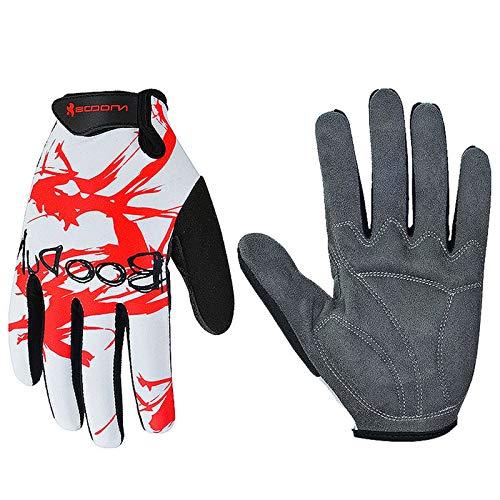 Gnzoe Fahrradhandschuhe Handschuhe Outdoor Sport Schock Absorption Lange Handschuhe Mittel -