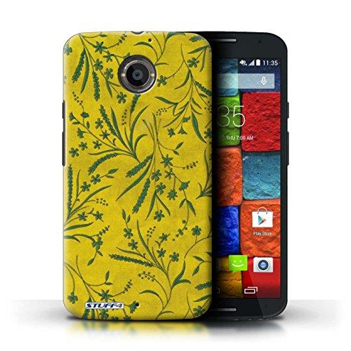 Kobalt® Imprimé Etui / Coque pour Motorola Moto X (2014) / Rouge/Vert conception / Série Motif floral blé Jaune/Vert