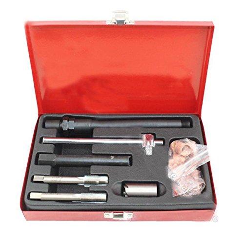 Qbace 25pc Spark Plug Kit di riparazione filettatura M14x 1,25con