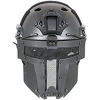 Rápido Casco con Spartan máscara negro
