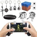 EAONE – Controlador de Juego móvil, 2 en 1, joysticks de Gamepad Sensitive Shot Aim Fire Triggers...