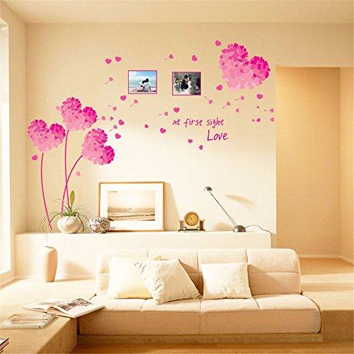 jaysk-pink-flower-wand-poster-pvc-wasserdicht-foto-wand-schlafzimmer-doppelbett-wohnzimmer-tv-hinter