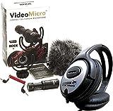Rode Videomicro Kondensator Richtmikrofon Kamera Mikrofon + KEEPDRUM Stereo-Kopfhörer