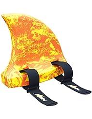 SwimFin niños natación ayuda (espuma), diseño mármol, color amarillo/naranja, talla única