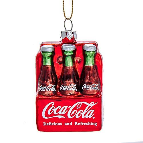 Kurt Adler Coca Cola Glasornament, 6 Stück -