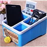 CONNECTWIDE® Table Organizer: MultiPurpose Desktop Organizer Remote Control Makeup Cosmetic Hair Accesories Jewelry Sunglasses Optical Frame Stationary Pen stand, Multi-function Desk Stationery Organizer Storage Box Pen/Pencil ,Cell Phone, Business Name Cards Remote Control Holder (Random Colors) Qty.(1 pcs) Size-17.5 cm (L) x 13 cm(W) x 10 cm(H)