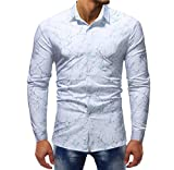 Luckycat Herrenn Fashion Printed Bluse beiläufige Lange Hülsen dünne Hemd Oberseiten Mode 2018