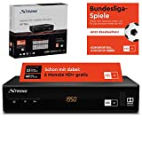 Strong SRT 7806 Satelliten Receiver für HD Plus inkl. HD+ Karte DVB-S2 Full HD (HDTV, HDMI, LAN, SCART, USB) Schwarz