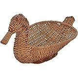 International Cane Furniture Duck Cane Basket (39 cm x 19 cm x 21 cm, Brown)