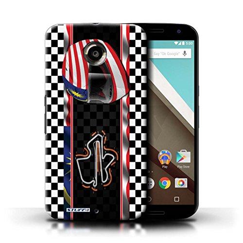 Kobalt® Imprimé Etui / Coque pour Motorola Nexus 6 / Italie/Monza conception / Série F1 Piste Drapeau Malaisie