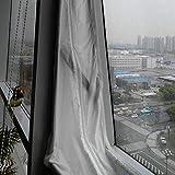 Lorenlli Air Lock Fensterdichtungsplatte 400cm tragbare Flexible Tuchdichtungsplatte Weiches Tuch für Mobile Klimageräte