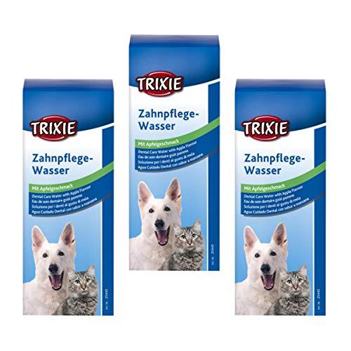 Trixie Zahnpflege-Wasser mit Apfelgeschmack 3-er Set zum Zähneputzen 25445