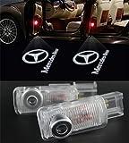Willkommens Licht, KVCH 1 Paar LED Höflichkeits Lichter Einfache Installation Autotür Projektor Logo Geist Schatten beleuchtet für Benz R (W215) ML (W164) GL (W164) mit Tür Polsterungs Entferner